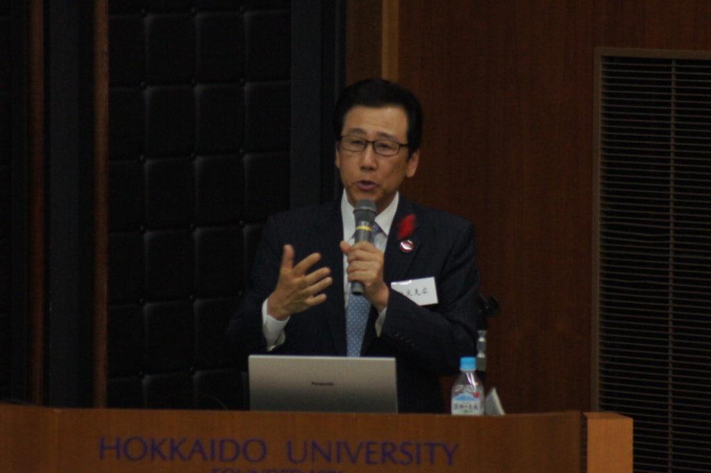 秋元市長が本学で講演 札幌市の将来展望を語る