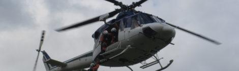 雪崩被害防止の講演会開催 北海道防災航空隊ヘリも飛来