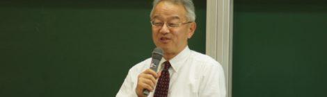 本学で副知事が講演 後輩へ向け「日本、世界、北海道の未来を託されている」