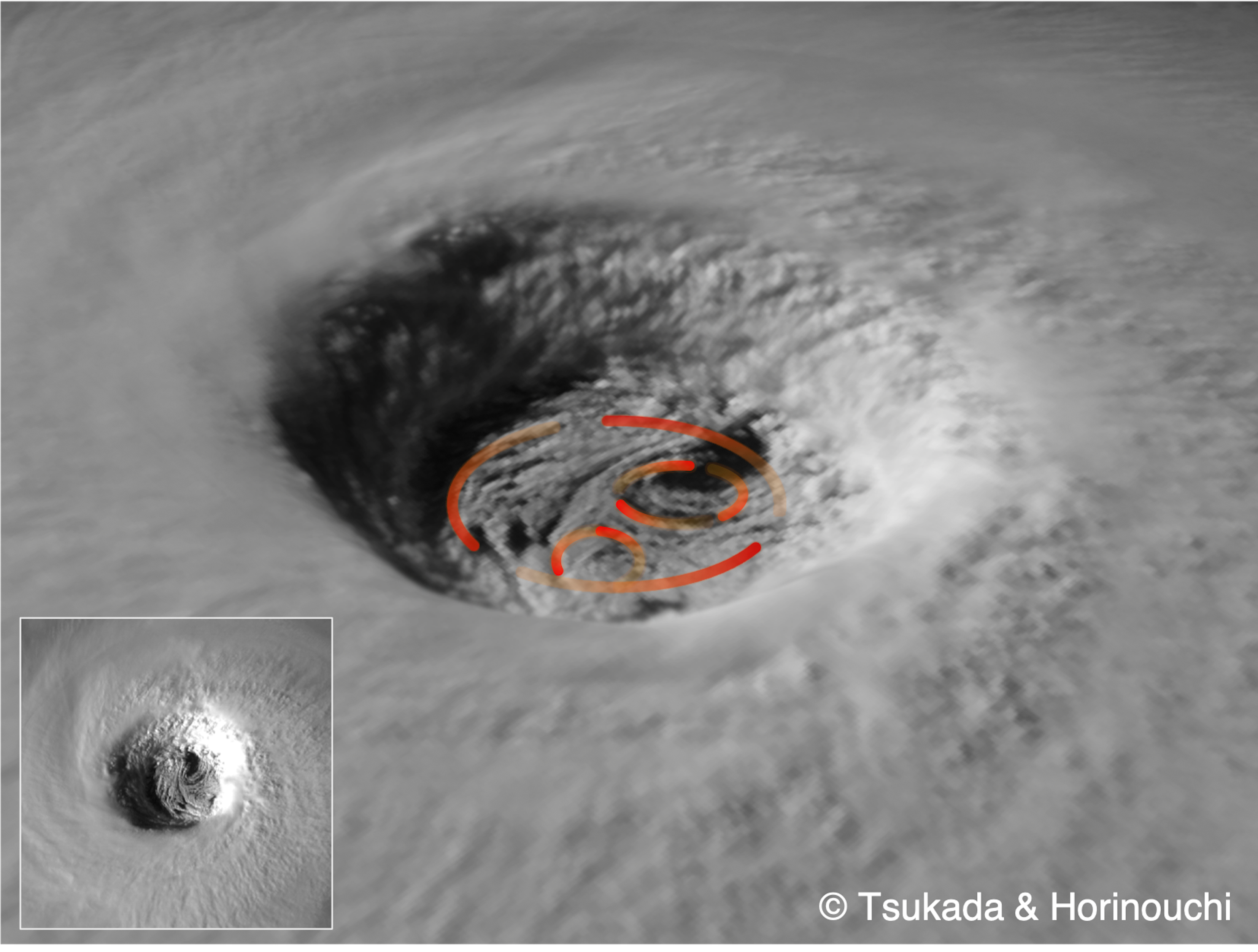 「台風の目」の風、宇宙から初めて観測 —北大開発の新手法(動画あり)