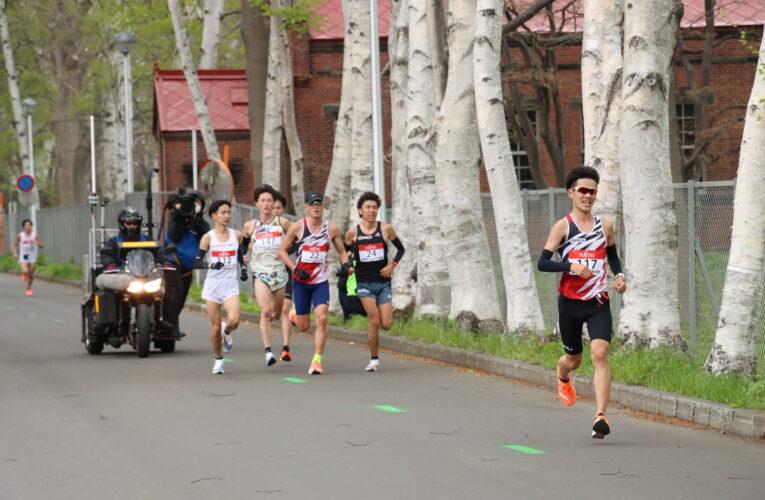 東京五輪マラソンテスト大会開催 国内外の選手らが北大構内を疾走